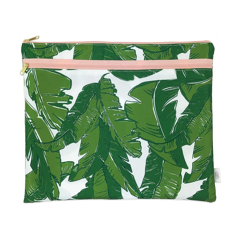 Logan Lenora Bikini Bag Packing Waterproof Portfolio Pouch Black /& White Stripe Swim Pouch