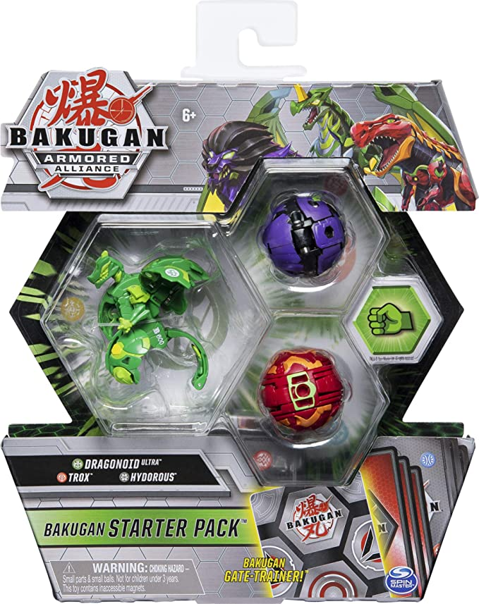 Armored Alliance Collectible Action Figures Bakugan Starter Pack 3-Pack Fused Pegatrix x Goreene Ultra