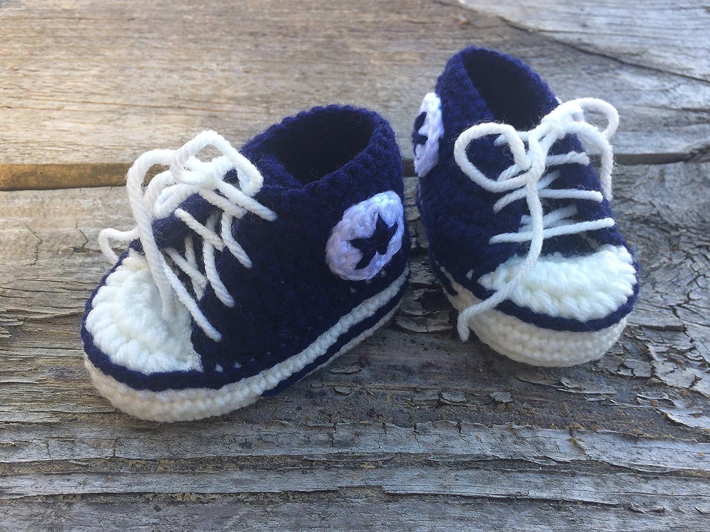 0fecc1941a914 Amazon.com: Baby Booties for Newborn. Crochet Baby Booties ...