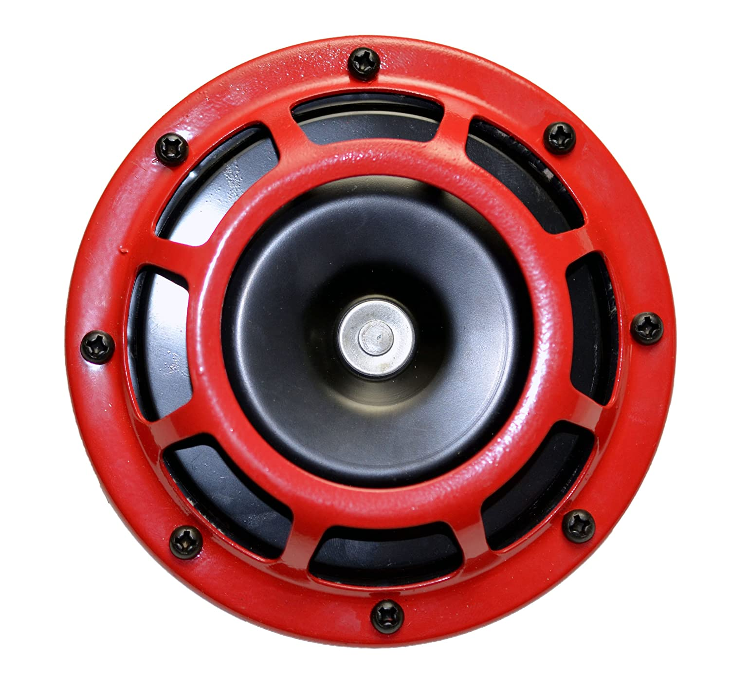 Extremely LOUD for Car Bike Motorcycle Truck for Audi A1 A2 A3 S3 RS3 A4 S4 RS4 A5 S5 RS5 A6 S6 RS6 Allroad A7 U2123 High Tone // Low Tone Twin Horn Kit with Bracket Pair Compact DUAL Super Tone LOUD Blast 139Db Universal Euro RED ROUND HORNS Quantity 2