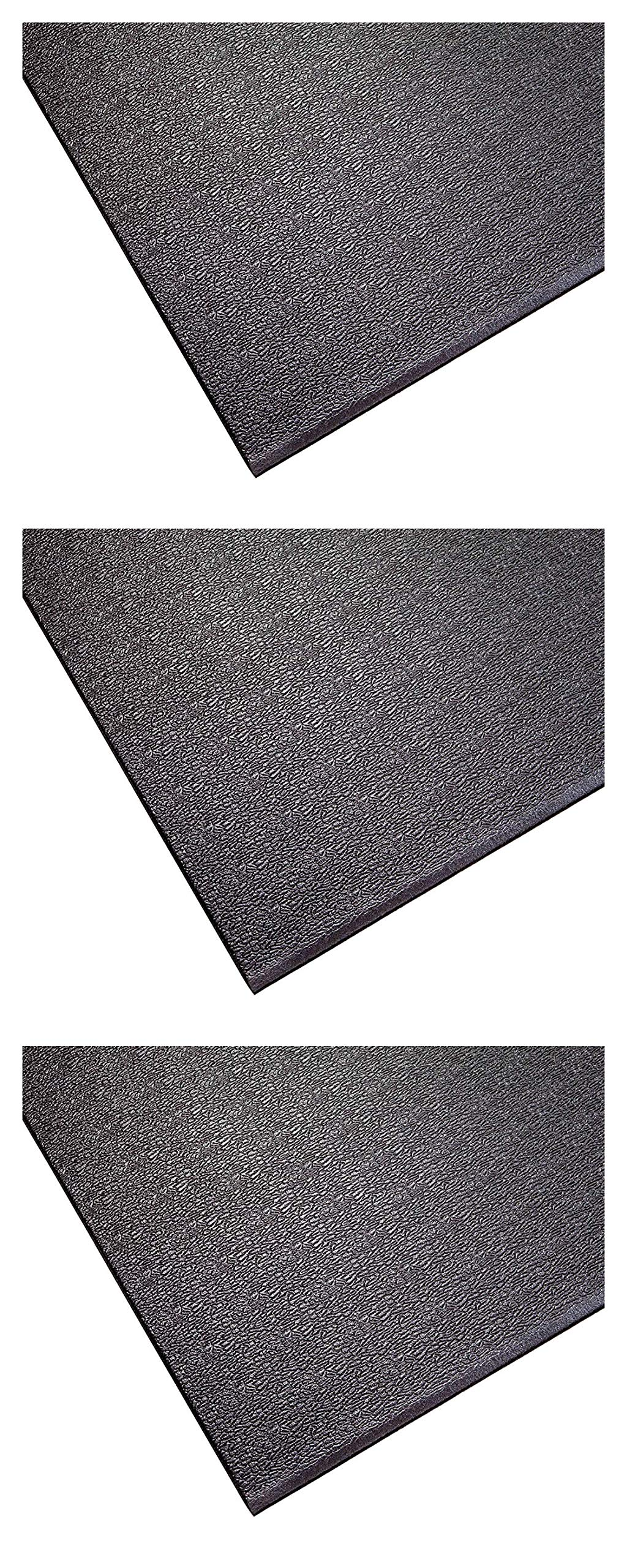 SuperMats Heavy Duty Equipment Mat 20GS Made in U.S.A. for Indoor Cycles Exercise Upright Bikes and Steppers (2 Feet x 3 Feet 10 in) (24-Inch x 46-Inch) (60.96 cm x 116.84 cm) (Тhrее Расk)