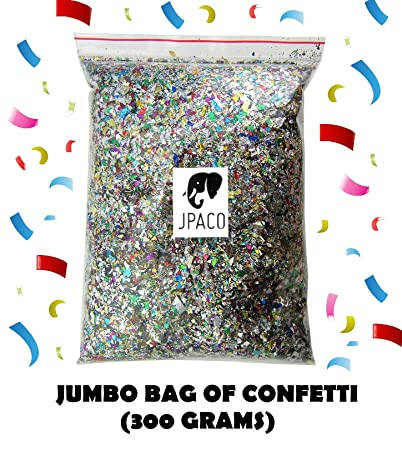 jpaco sparkle confetti 300 grams metallic foil scatter for new years party