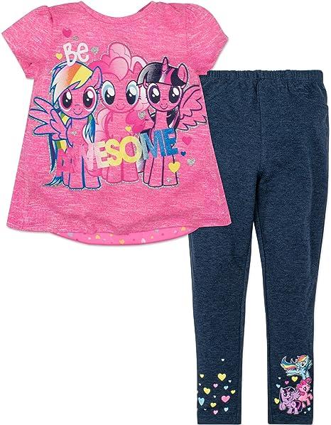 53dab7c15 Amazon.com  My Little Pony Shirt and Leggings Set Toddler Girl