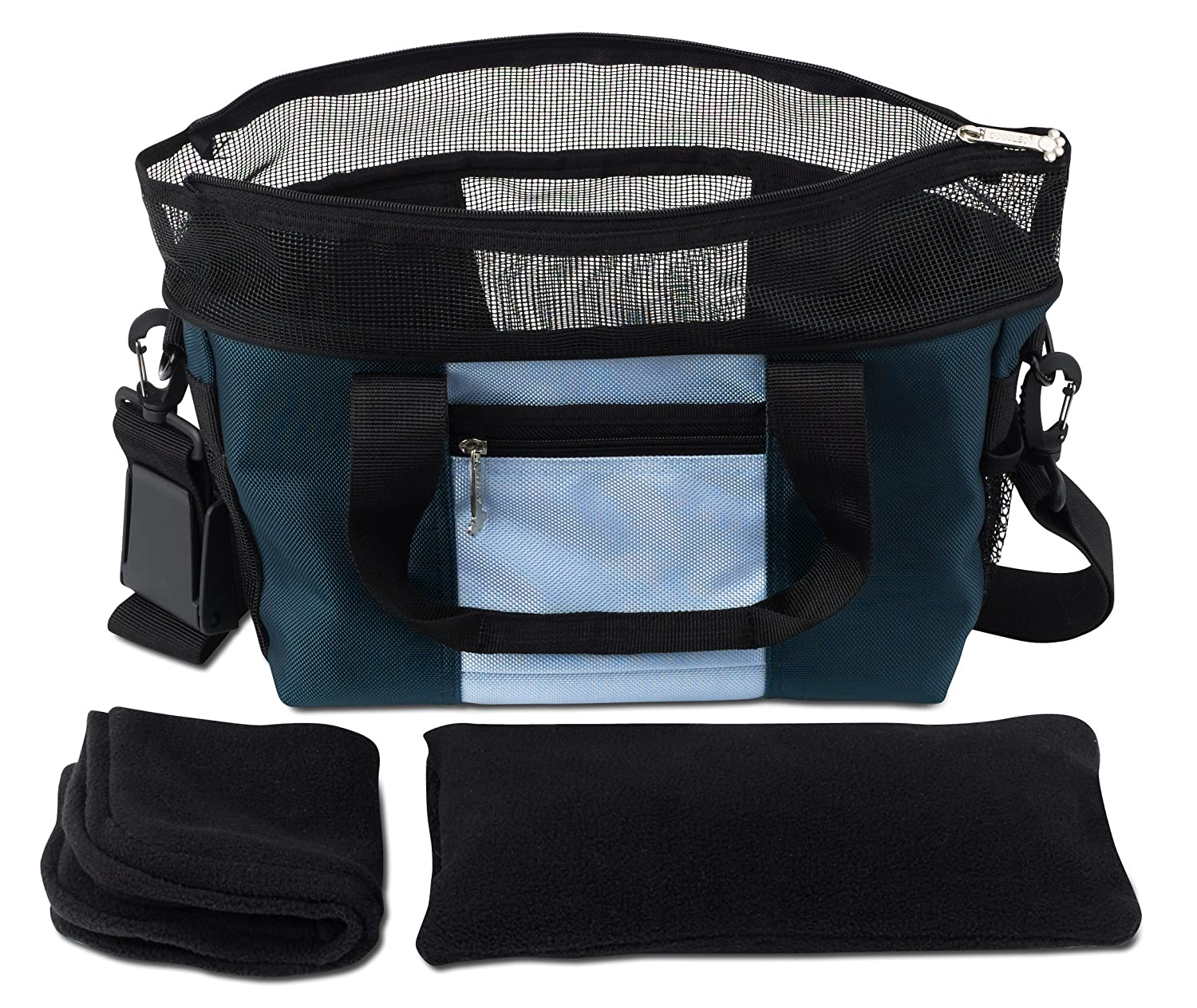bluee Large bluee Large Doggles Dog Carrier Denier Messenger Bag, Large, bluee Dog Carrier