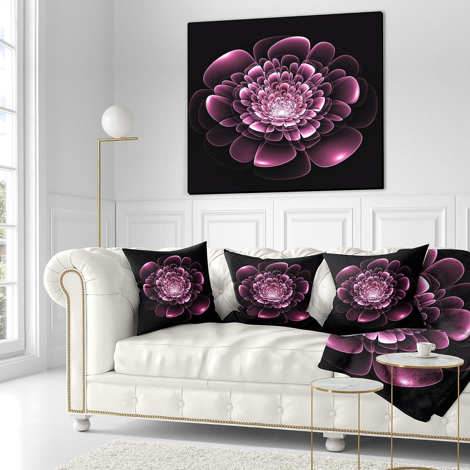 26 Round Floor Pillow Kess InHouse Geordanna Fields Kala II Gold Pink Abstract