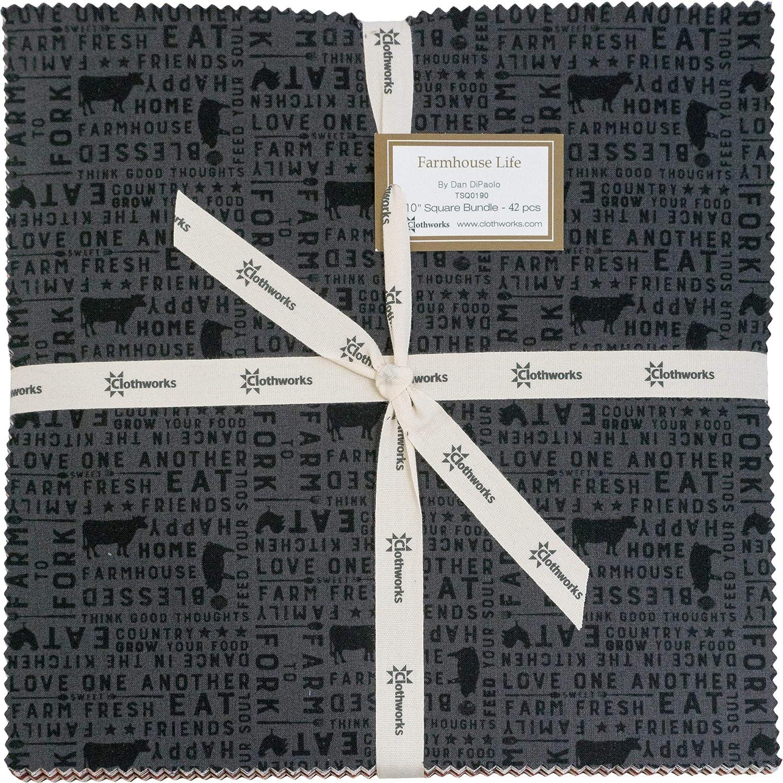 Dan DiPaolo Farmhouse Life 10 Squares 42 10-inch Squares Layer Cake Clothworks