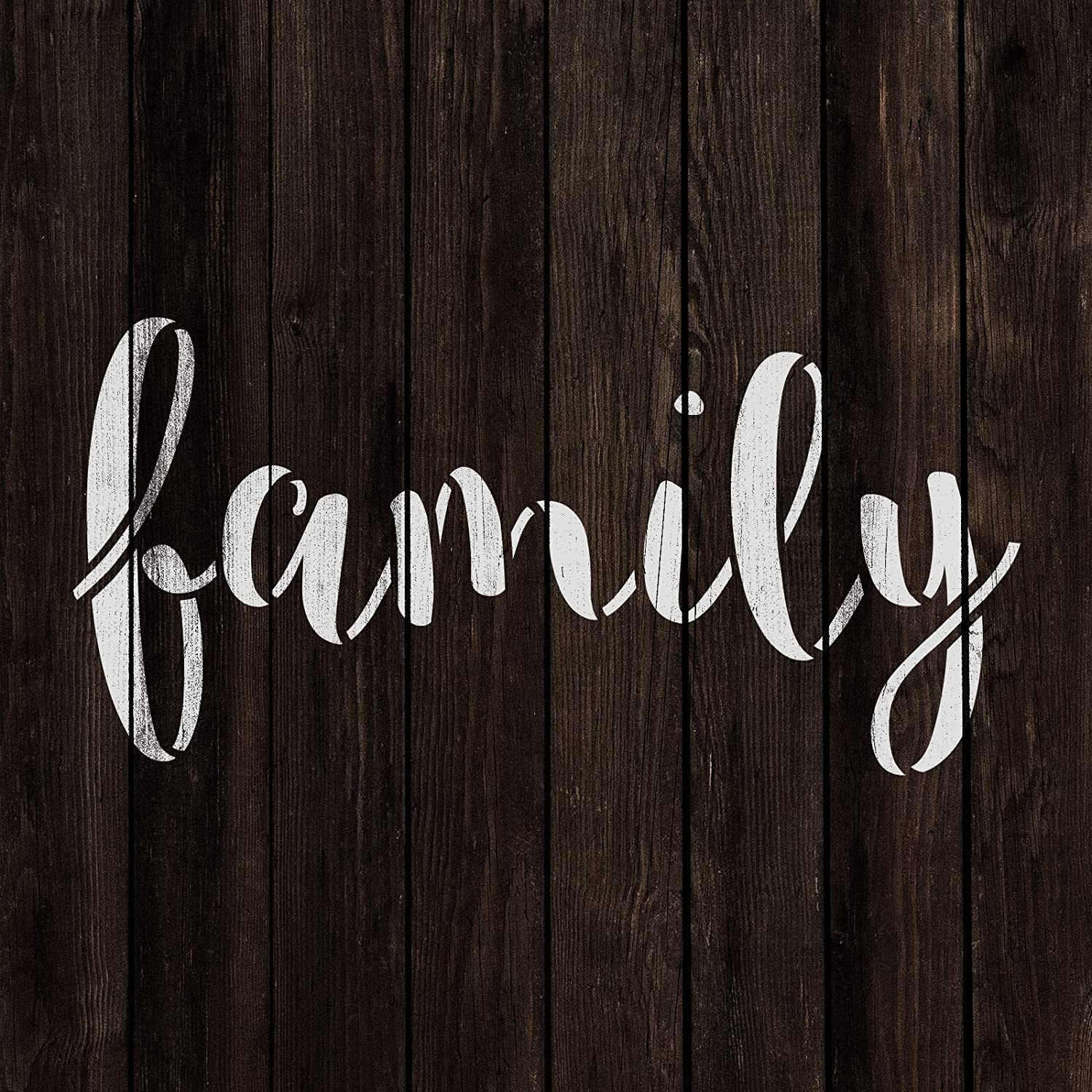 Family Stencil Template for Walls and Crafts Reusable Stencils for Painting in Small /& Large Sizes