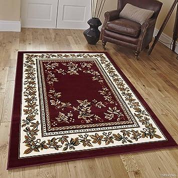 Amazon Com Allstar 8 X 11 Burgundy Woven Traditional Persian Floral