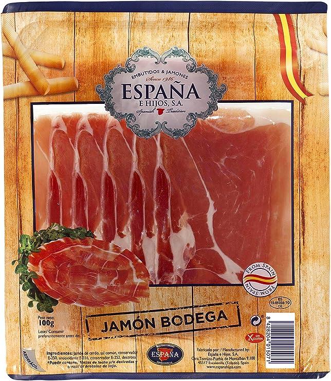 España Lonchas de Jamón Serrano - 100 gr: Amazon.es: Alimentación y bebidas