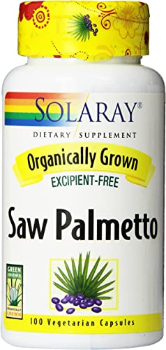 Solaray Organic Saw Palmetto Supplement, 555 mg, 100 Count