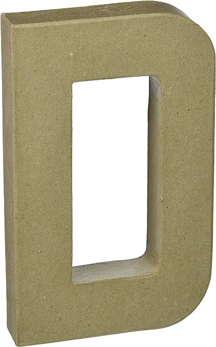 Craft Ped Paper CPL1006251-O.K Mache Letter O Kraft 8