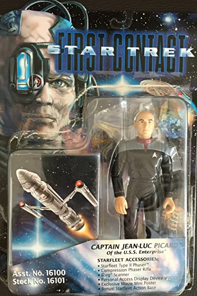Amazon.com: Star Trek Captain Jean-Luc Picard First Contact Action Figure: Toys & Games