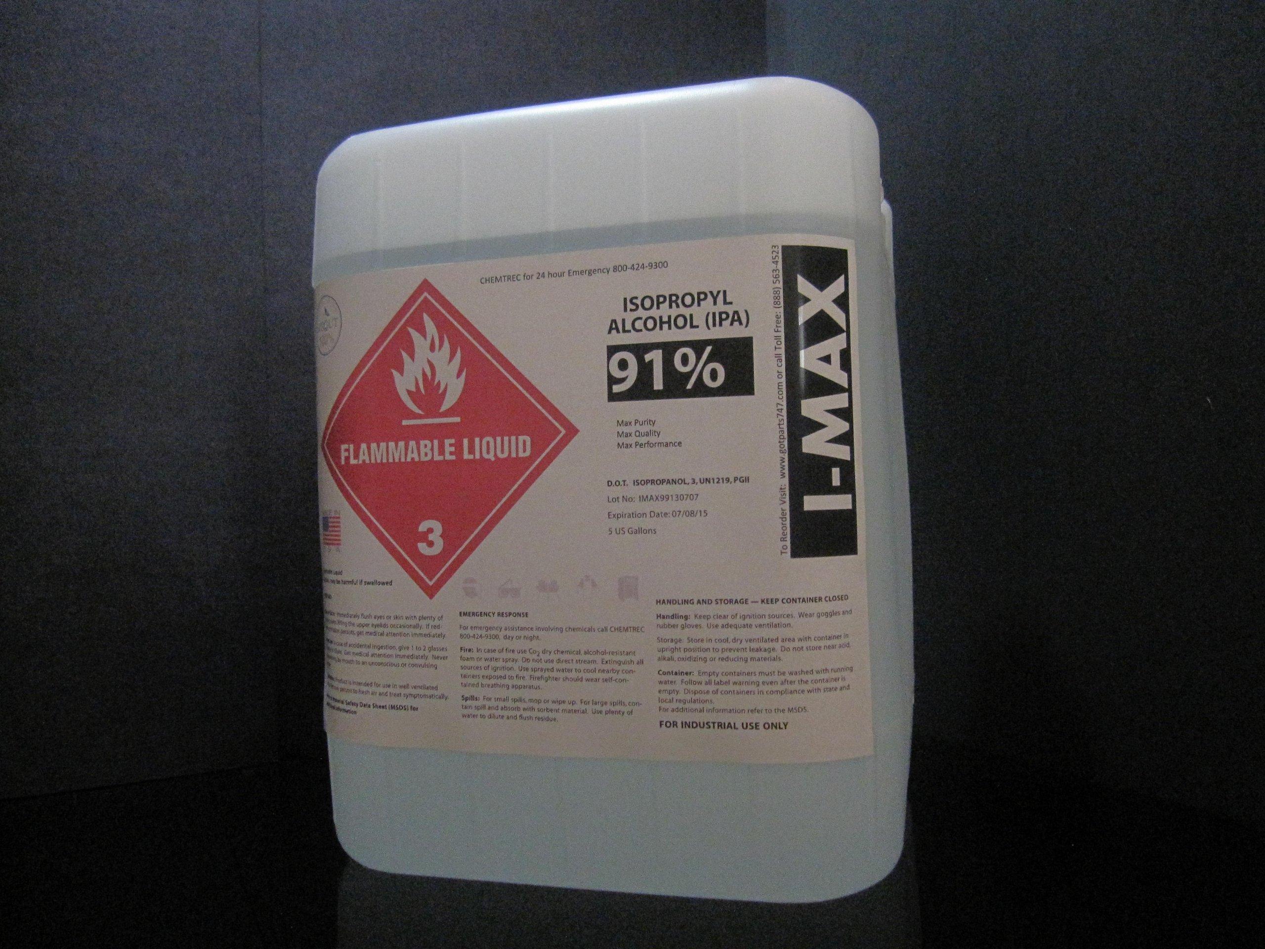 Isopropyl Alcohol - IPA 91% (5 Gallon)