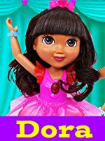 DORA THE EXPLORER Ballerina + Dora and Friends Gymnast Dolls Gymnastics