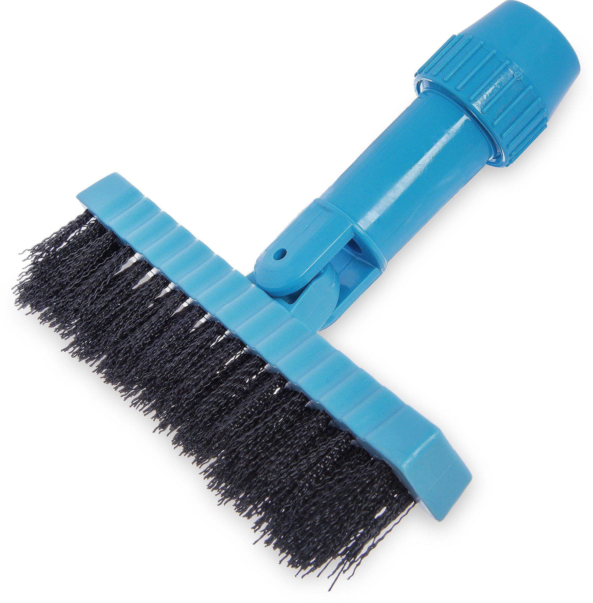Carlisle 36532003 Swivel-Head Grout Line Brush, 1-1/4''-Long Black Crimped Nylon Bristles, Blue Block, 7-1/2'' L x 1'' W (Case of 12)