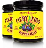 Jenkins Jellies (Pack of 2) Fiery Figs Pepper Jelly 11oz, Organic Hot Pepper Jelly made with 7 Fresh Peppers in…