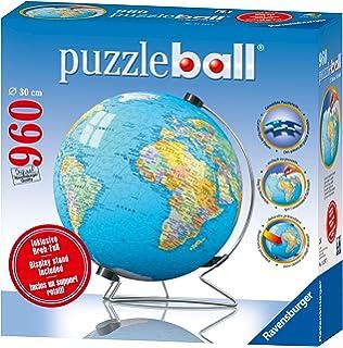 Ravensburger puzzleball world map 960 piece jigsaw puzzle amazon ravensburger the world with stand puzzleball 960 piece gumiabroncs Choice Image
