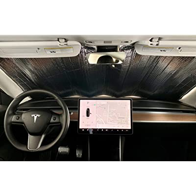 SolarShade Tesla Model 3 Windshield Sunshade Custom Fit for Model 3 Only | 2020-2020: Automotive