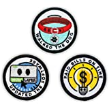 """Winks For Days Adult Merit Badge Embroidered Iron-On Patches (Responsibilities - Set 2) - Includes Three (3) 2"""" Patches: Upda"""