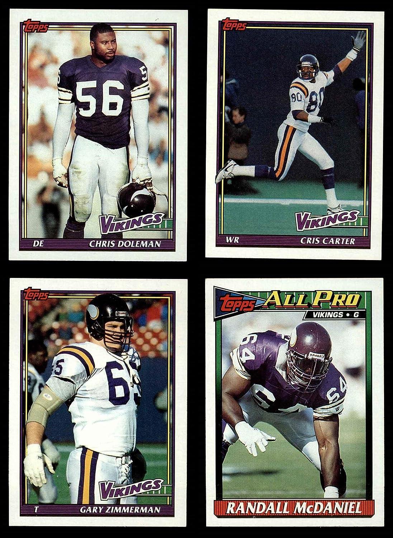 1991 Topps Minnesota Vikings Team Set Minnesota Vikings (Baseball Set) Dean's Cards 8 - NM/MT Vikings 913Pq52hV-L