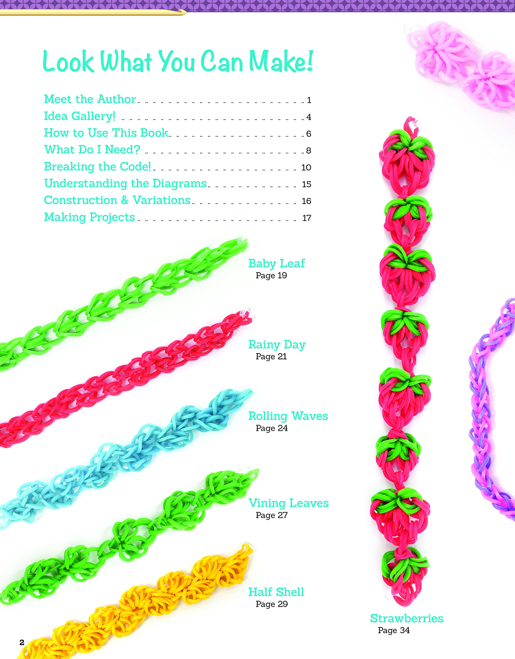 Amazon.com: Hooked on Rubber Band Jewelry: 12 Off-the-Loom ... on