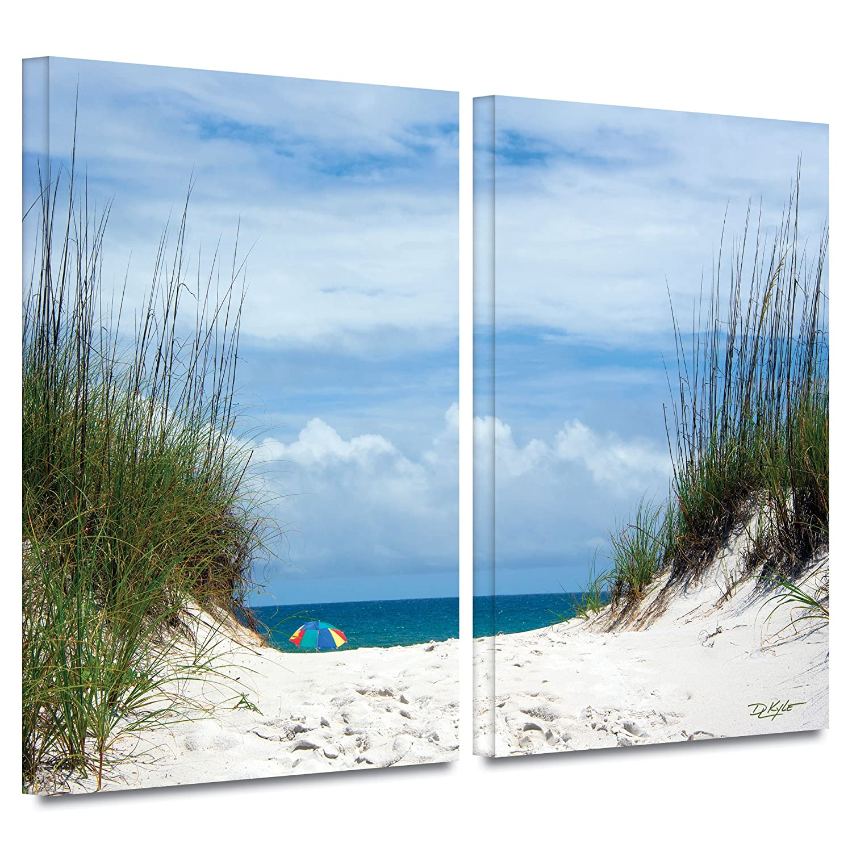 2 Piece Gallery Wrapped Canvas Set 18X28 Antonio Raggios Ocean Path
