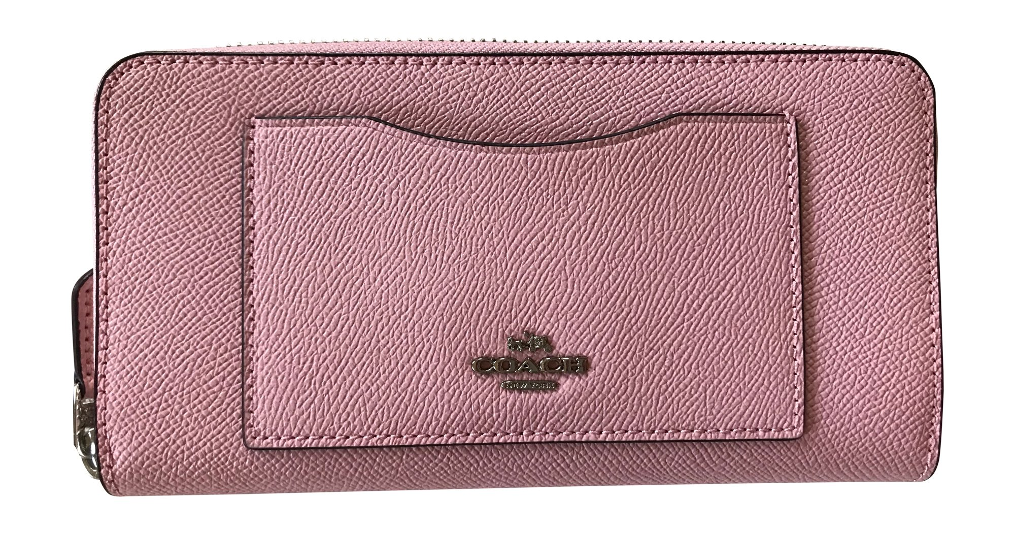 Coach Crossgrain Leather Accordian Zip Wallet, Blush 2