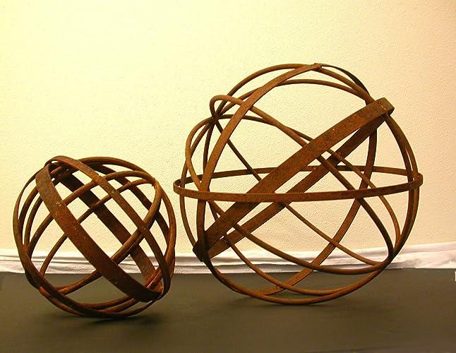 Exceptionnel 14u0026quot; Garden Art Metal Sphere Sculpture Home And Garden Art Decorative  Garden Sculptures ...