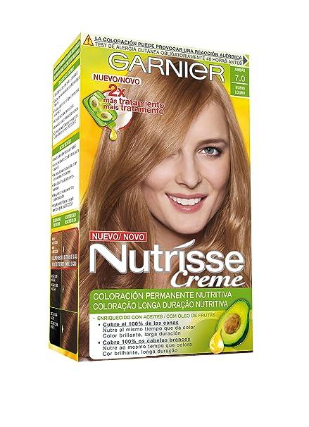 Garnier Nutrisse Creme Coloración permanente con mascarilla nutritiva de cuatro aceites - Tono: Rubio 7