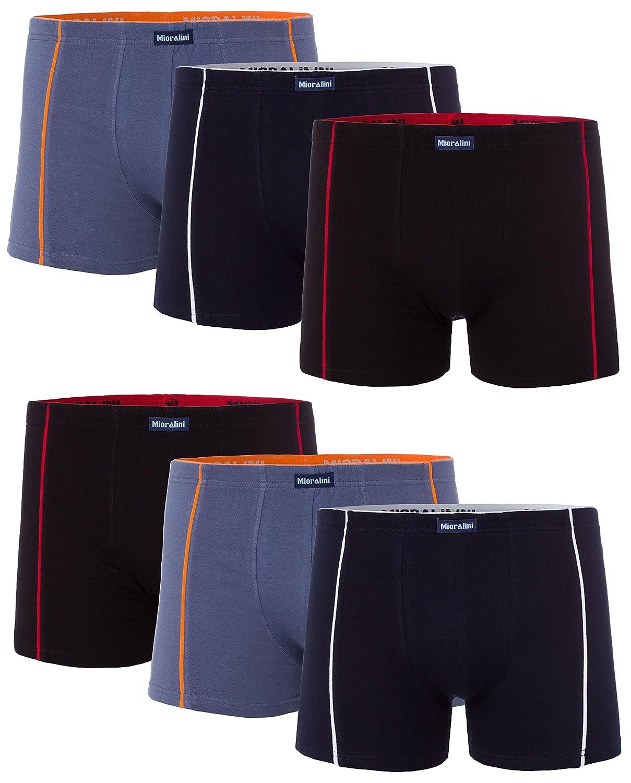 MioRalini 6 Hombres Elastan Boxers Short, Artículo: 6 x Set 01, Talla: 2XL-8