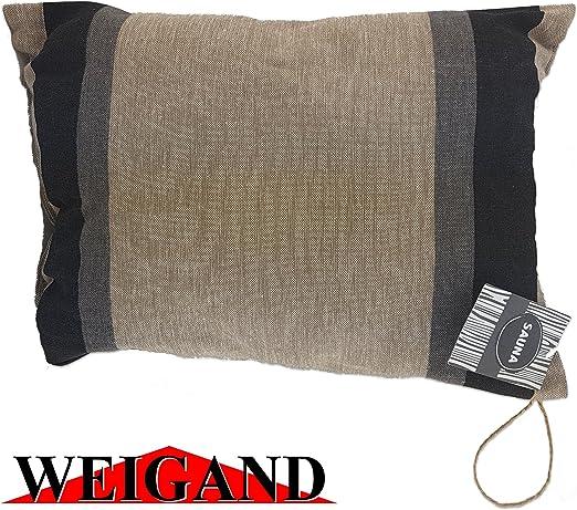 40 x 22 cm lin//coton beige//blanc 1 coussin de sauna et de voyage pour sauna Jokipiin fabriqu/é en Finlande