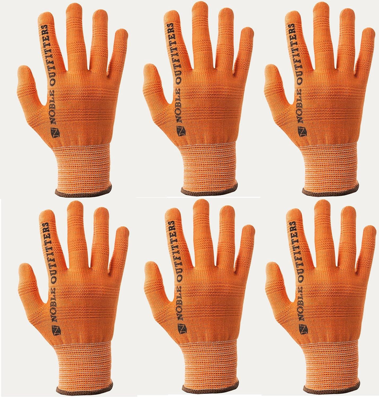 Noble Outfitters Trueflex Roping Gloves 6-Pack Orange Xxs - Xxl