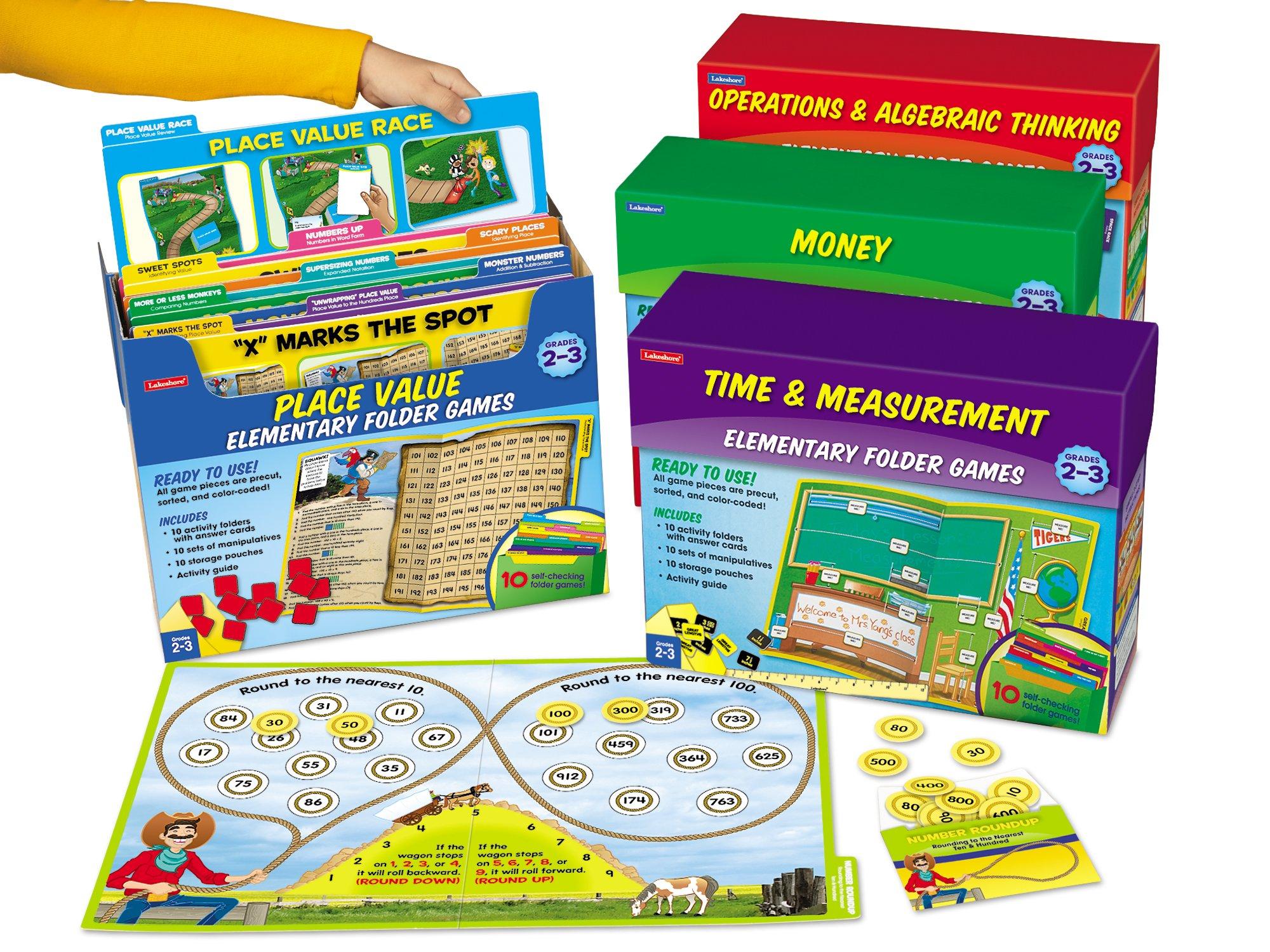 Lakeshore Math File Folder Game Libraries - Gr. 2-3 - Complete Set