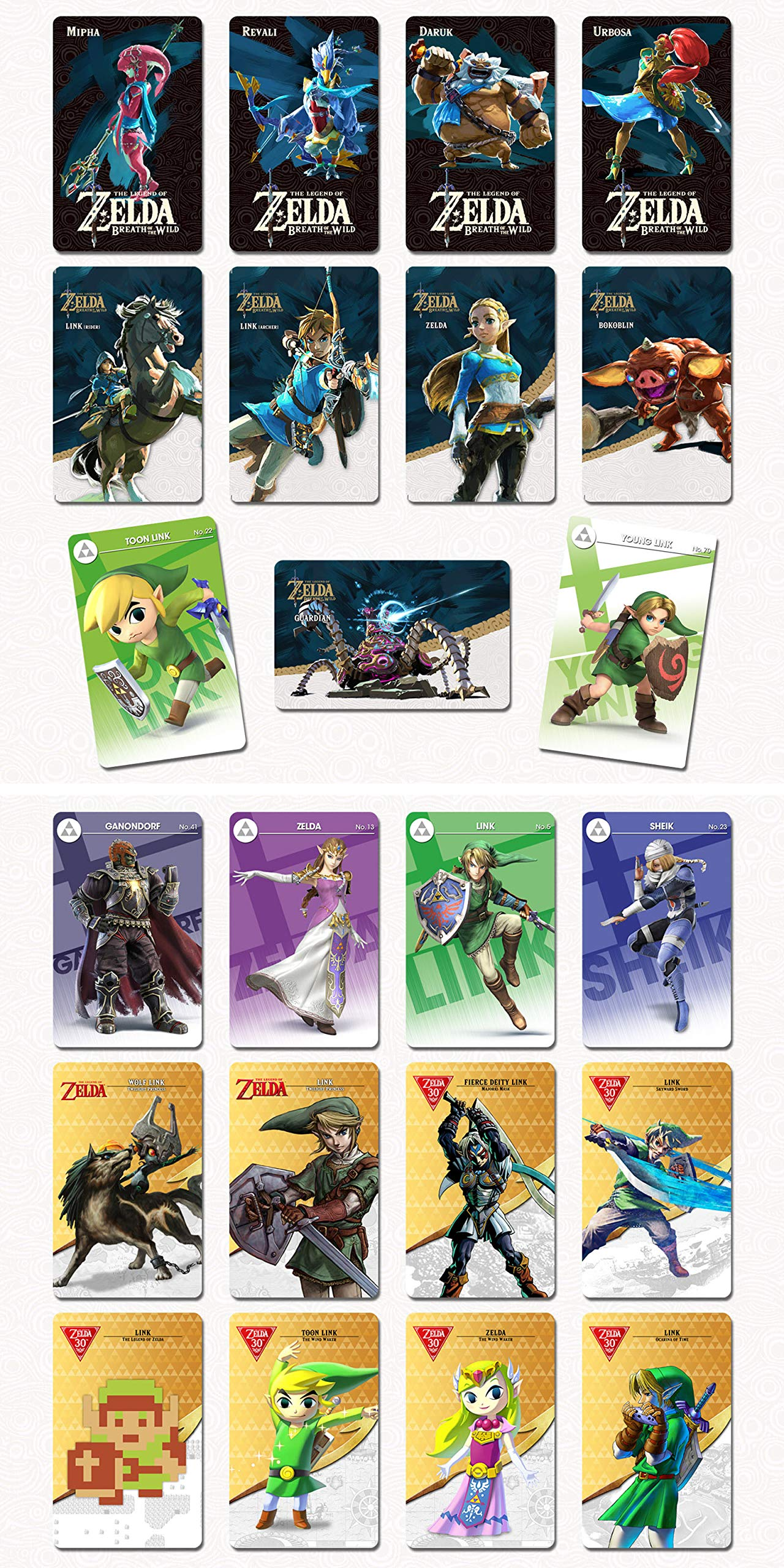 NFC Game Cards for Nintendo Switch & Wii U & New 3DS The Legend of Zelda BOTW Set of 23Pcs