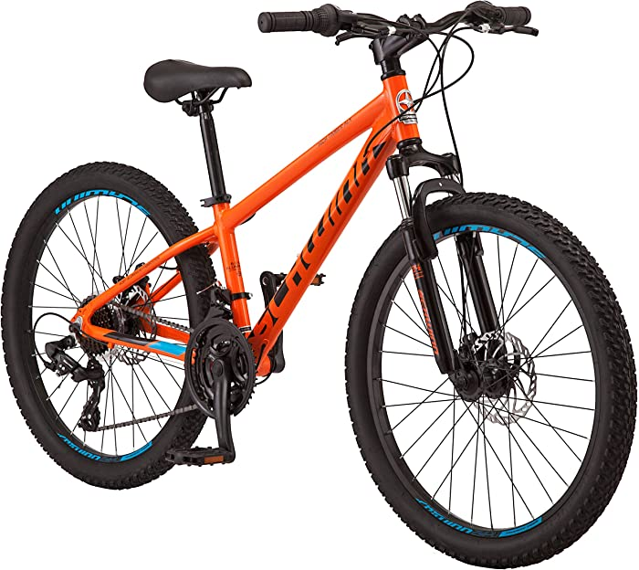 Schwinn High Timber Youth and Adult Mountain Bike, Aluminum and Steel Frame Options,7-21 Speeds Options, 24-29-Inch Wheels, Multiple Colors