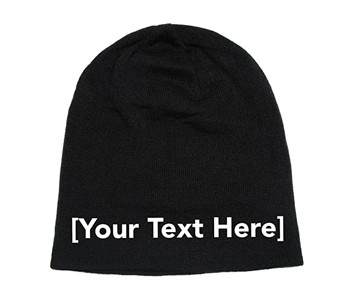 Image Unavailable. Image not available for. Color  Slouchy Beanie with  Custom Text Embroidered ... 3c660ac83d67