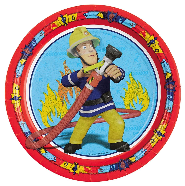 dise/ño de bombero 16 personas Fireman Sam Set de mesa para fiesta