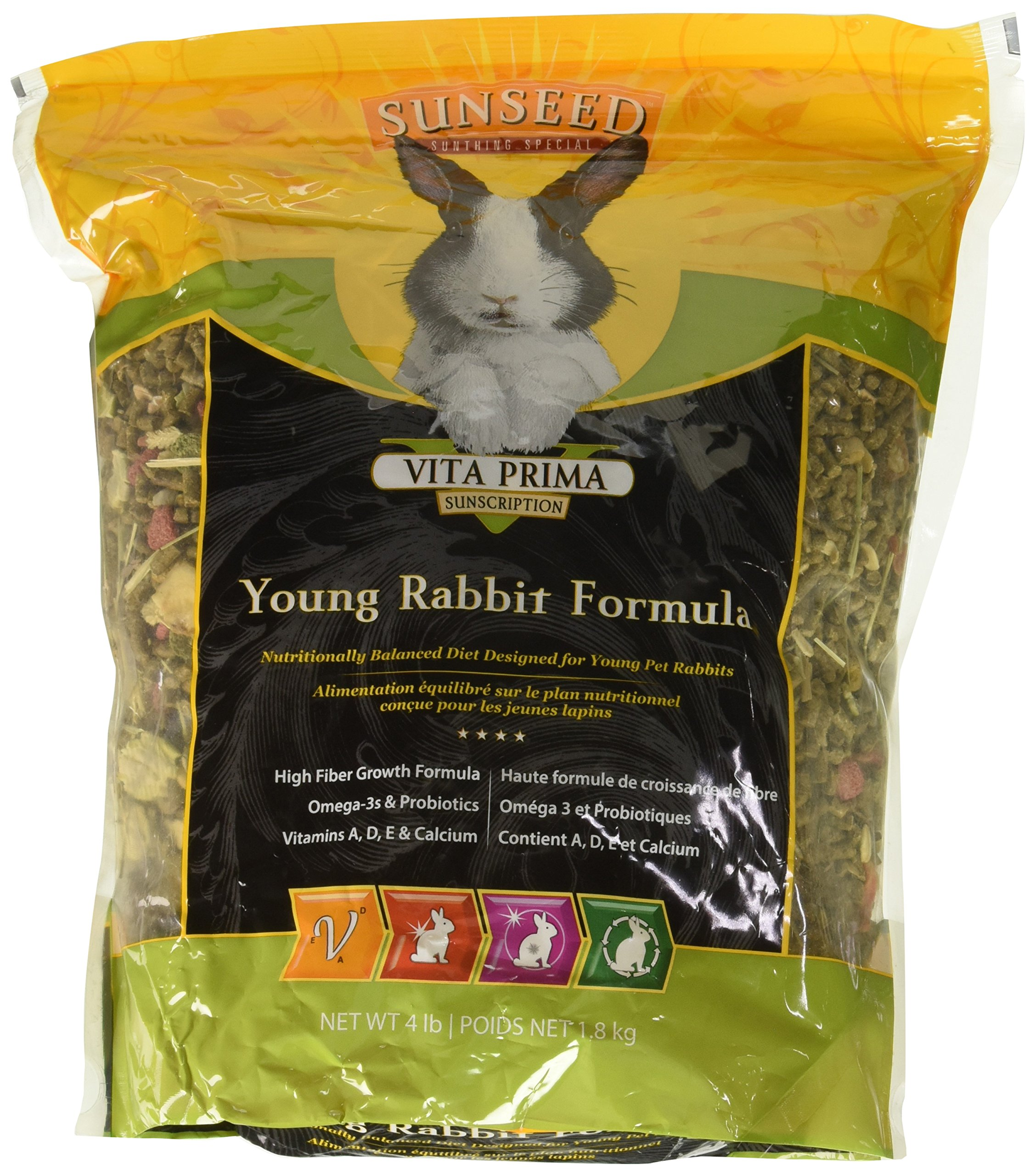 (3 Pack) Sunseed Vita Prima Sunscription Young Rabbit Formula, 4 Lb each by Sun Seed