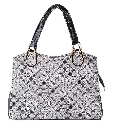abde7f36aea Gouri Bags Stylish Handbags Shoulder Leather Bag Women Ladies Girl Purse  Office Bag Gift Handbag Black With Sling Belt(Black and White): Amazon.in:  Shoes & ...
