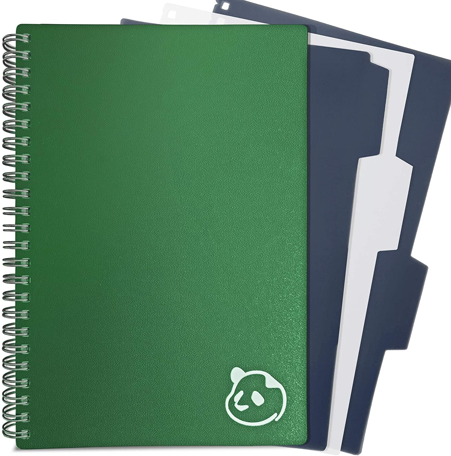"""Daily Planner 2.0 - by Panda Planner 2020-2021 - Monthly Calendar, Weekly Organizer and Day Planner Sections - Undated and Wire Binding - 3 Month Planner - 8.25"""" x 5.75"""" - Green"""