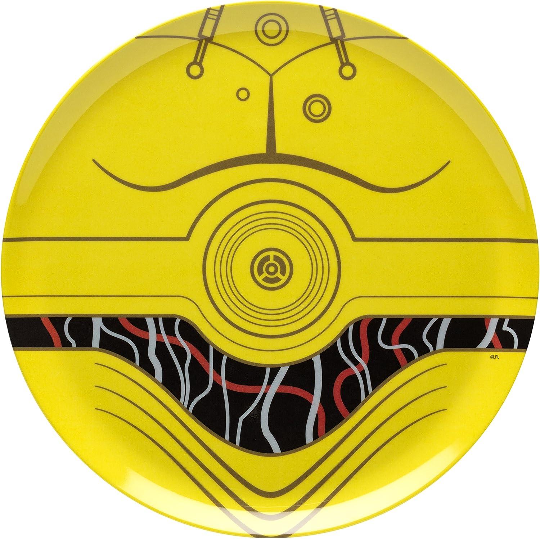 Reusable 10 Designs Dinner Plate Featuring Batman Graphics BPA-Free Melamine Break-Resistant Zak