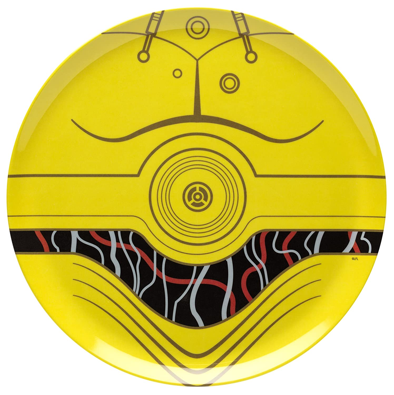 Zak! Designs ディナープレート C3POグラフィック スターウォーズ 再利用可能 壊れにくい BPAフリー メラミン製 10インチ   B010Q6S5GI
