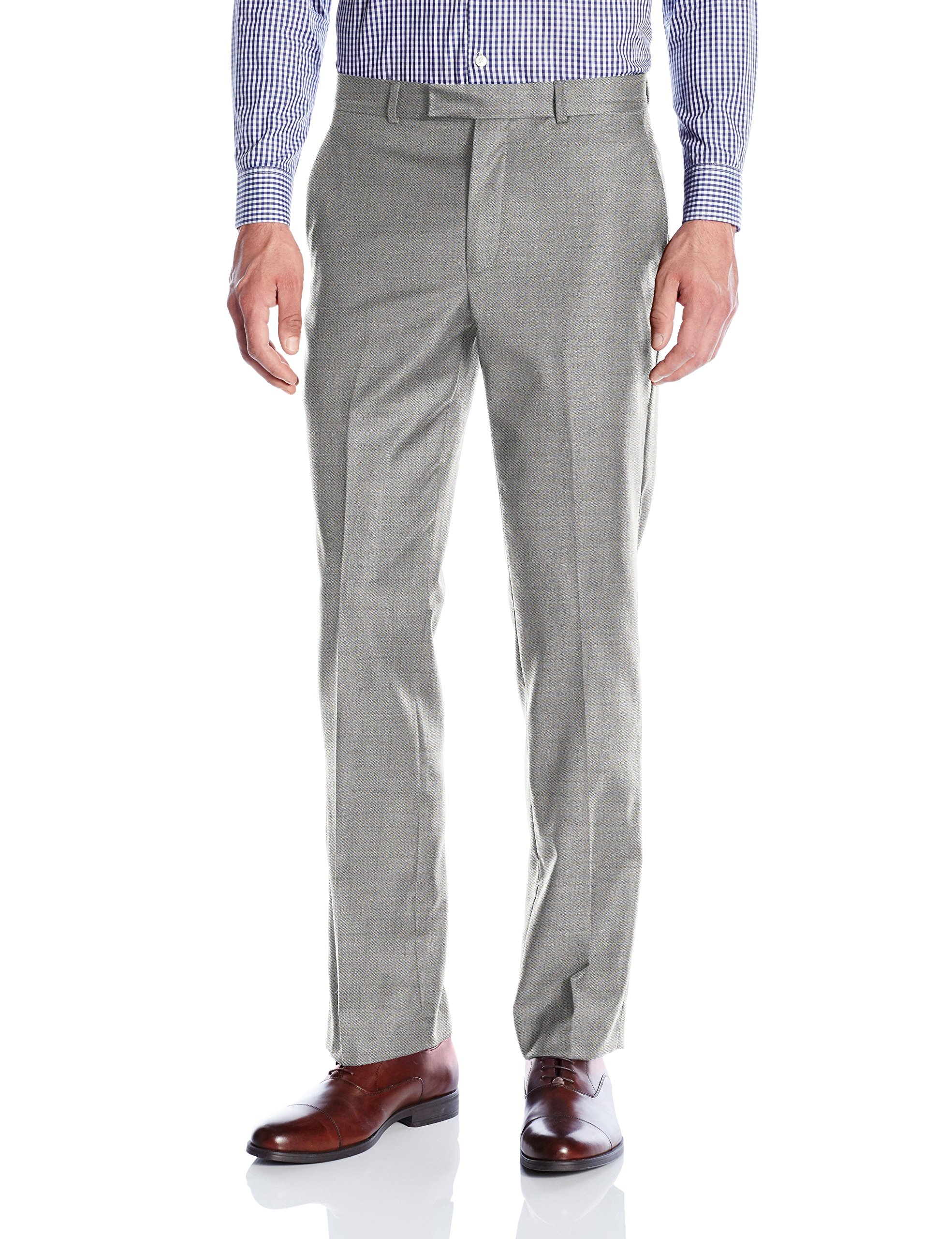 Kenneth Cole New York Men's Performance Wool Suit Separate (Blazer and Pant), Grey Pant, 40W x 32L