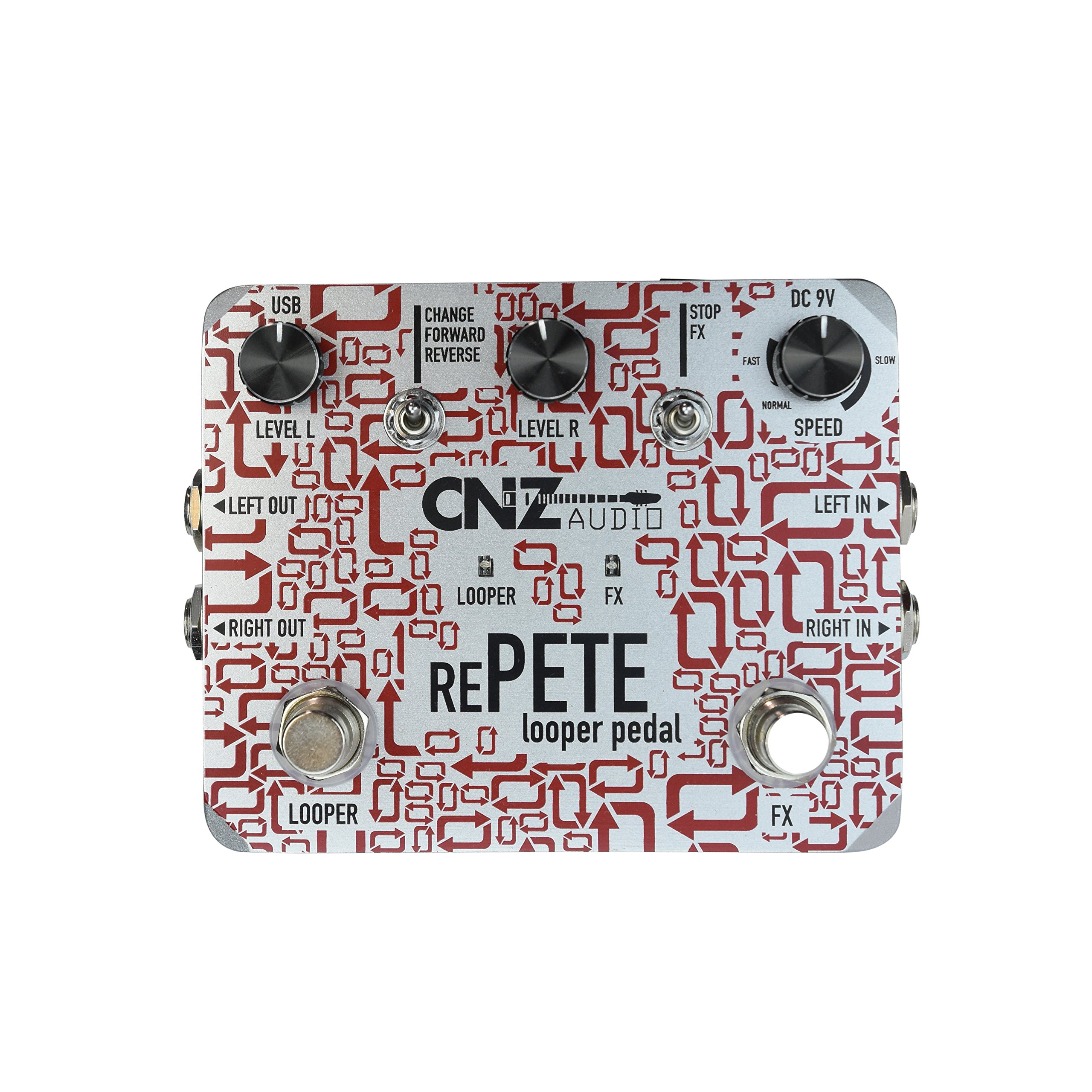 CNZ Audio Re-Pete Stereo Looper Guitar Effects Pedal, Advanced Effects, True Bypass