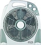 Argoclima Aster Ventilatore Box con Comoda Maniglia, 3 Velocità, Silenzioso, Diametro 30 cm, Bianco/Grigio