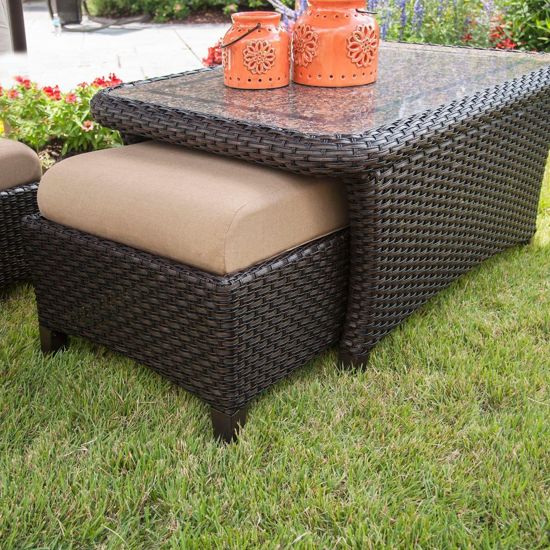 Amazon.com : Outdoor Patio Furniture, Deep Seating Set with Premium  Sunbrella® Fabric 6 Pcs Wicker Deck Pool All Weather Set : Patio, Lawn &  Garden - Amazon.com : Outdoor Patio Furniture, Deep Seating Set With
