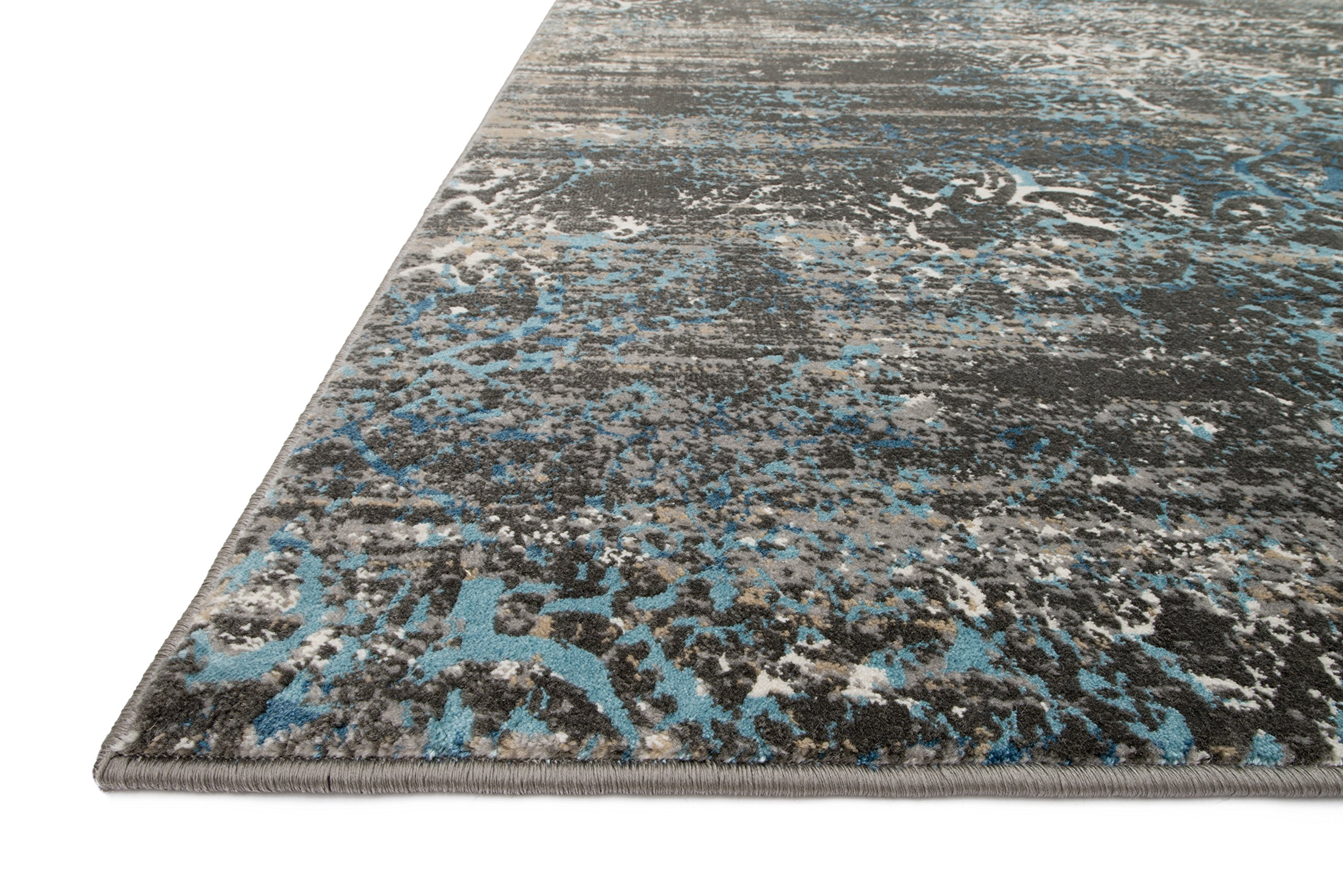 Loloi Rugs Kingston Collection KGSTKT-02CCBB7AAA Area Rug, 7' 10'' x 10' 10'', Charcoal/Blue by Loloi (Image #2)