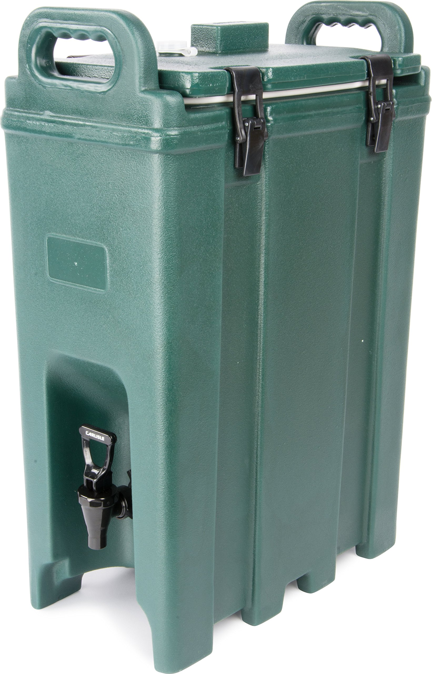 Carlisle LD500N08 Cateraide Polyethylene Insulated Beverage Server, 5 gal. Capacity, 16-3/8'' L x 9'' W x 24.20'' H, Forest Green