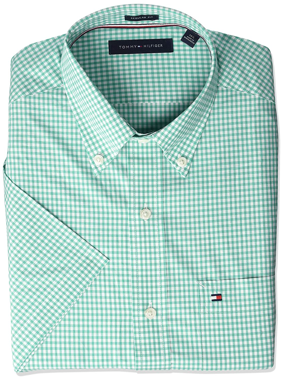 Tommy Hilfiger Mens Short Sleeve Button Down Shirt At Amazon Mens