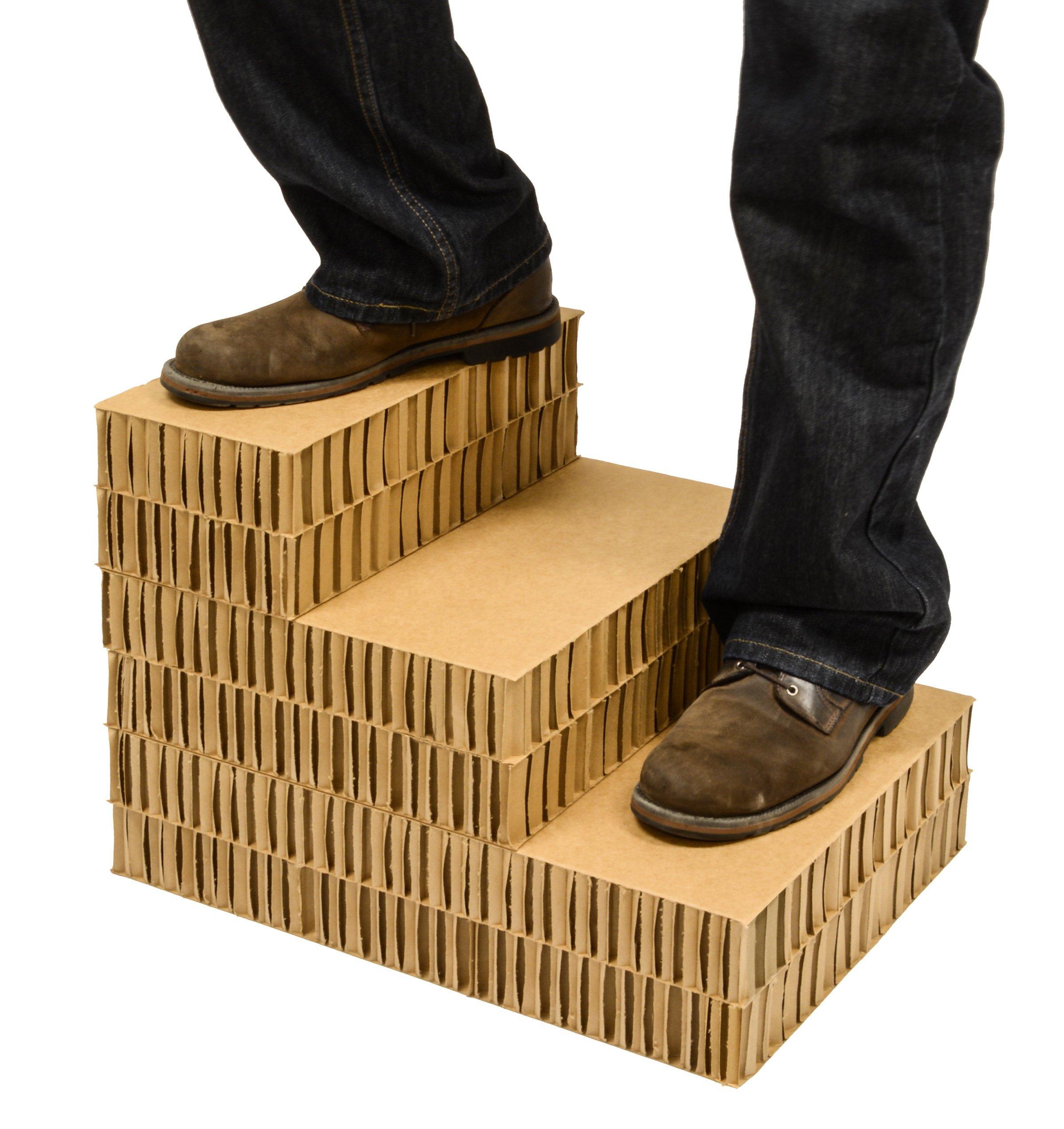 Dallas Manufacturing Co. 3 Step Home Décor Pet Steps, Brown & Tan by Dallas Manufacturing Co. (Image #3)